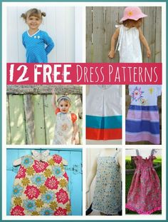 10 gorgeously simple FREE dress patterns for little girls @mumsmakelists #sewing