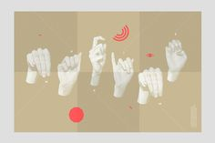 Accordion fold about a path that invites to discover the Québec Sign Language…