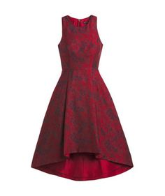 Florals may seem like more of a spring motif, but when they're done up in a deep ruby red and a luxurious jacquard fabric, you can consider them fitting for any festivity.