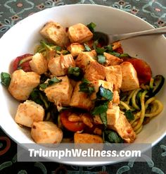 Easy Tofu with Zucchini Noodles