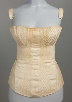Stays, early 19th century, Worn by Mehetable Stoddard Sumner (Welles) (1784–1826), possibly French, Cotton twill, linen plain weave (lining), cotton plain weave tape (edging), linen twill tape (lacing), MFA Boston 49.904