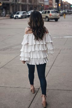 A RUFFLE TOP YOU NEED TO TRY @chicwish