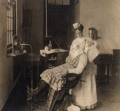 """Woman Dentist, 1908  """"They"""" have always said girls do not do this or that...well, that is just NOT true, and never has been!!!"""