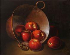 Apples: Paintings Realism Canvas Oil  Still Life   Ahuatzi Armando