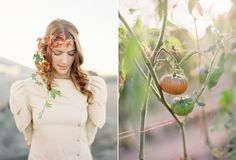 Rust-colored floral crown #floralcrown #rust #wedding