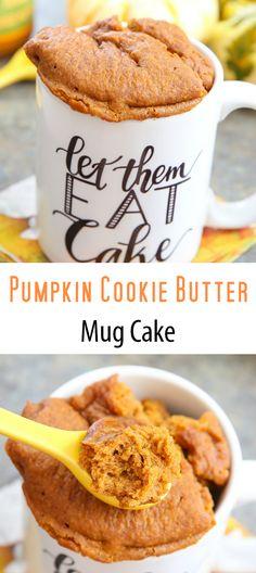 Pumpkin Cookie Butter Mug Cake