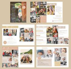 Naturally Basic Photography ~ Brochure Templates on Creative Market Photography Brochure, Hobby Photography, Photography Marketing, Photography Packaging, Family Photography, Photography Ideas, Business Inspiration, Layout Inspiration, Business Ideas