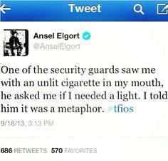 Lol Ansel Elgort as Gus