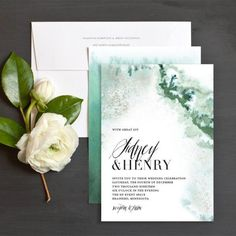 Painted Ethereal Wedding Invitations by Emily Crawford | Elli