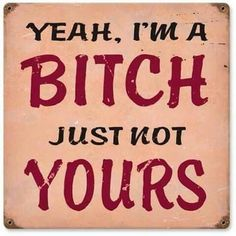 Retro I'm A Bitch Metal Sign 12 x 12 Inches - quotesfunny Sarcastic Quotes, True Quotes, Funny Quotes, Bitchyness Quotes Sassy, Qoutes, Savage Quotes Sassy, Happy Quotes, Mood Quotes, Girl Quotes