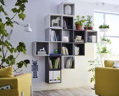 EKET kastencombinatie | IKEA IKEAnl IKEAnederland nieuw inspiratie wooninspiratie interieur wooninterieur kast kasten veelzijdig multifunctioneel opberger opbergen opbergmeubel boekenkast kamer woonkamer