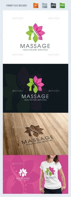 Massage - Chiropractic Logo Template PSD. Download here: http://graphicriver.net/item/massage-chiropractic-logo-template/15888313?ref=ksioks