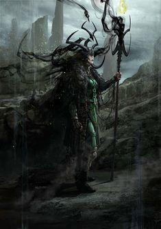 ArtStation - Hela / Thor : Ragnarok, Aleksi Briclot