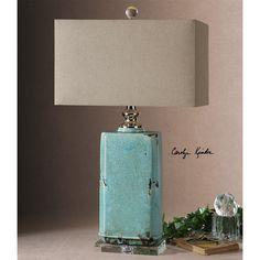 Uttermost 26162-1 Adalbern 1 Light Table Lamp in Blue