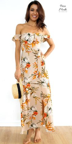 Yellow Floral Bohemian Style Maxi Dress with #FreeShipping. #LongDresses #LongDressesCasual #LongDressesSummer #SummerOutfits #SummerDresses #CasualLongDresses #ChicOutfits #ChicFashion #WomensFashion #WomensFashionCasual #WomensFashionForSummer #2017Dresses #2017DressStyle #Boho #Bohemian #BohoStyle #BohoChic