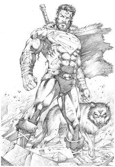 Superman Drawing, Comic Drawing, Superman Artwork, Rogue Comics, Dc Comics Art, Comic Books Art, Book Art, Comic Character, Character Design