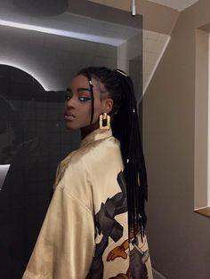 Beautiful Black Girl, Pretty Black Girls, Black Girls Hairstyles, Cool Hairstyles, Pretty People, Beautiful People, Brown Skin Girls, Black Girl Aesthetic, Woman Face