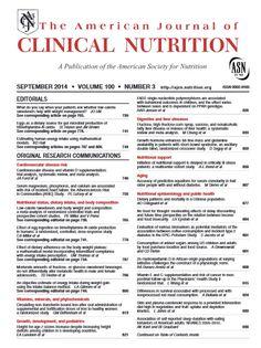 American journal of clinical nutrition - Texto impreso: http://kmelot.biblioteca.udc.es/record=b1181950~S1*gag Versión electrónica: http://kmelot.biblioteca.udc.es/record=b1503862~S1*gag