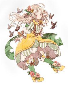 Image in anime collection by yizel_loredo on We Heart It Manga Kawaii, Kawaii Art, Anime Chibi, Manga Drawing, Manga Art, Pretty Art, Cute Art, Character Illustration, Illustration Art