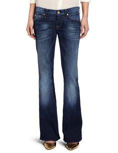 7 For All Mankind Women's Petite Lexie A Pocket Jean in Aggressive Siren, Aggressive Siren, 24