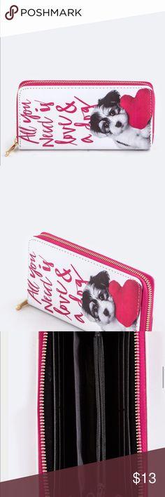"Puppy Wallet  Length - 7.75"" Width - 1"" Height - 4""  Faux Leather Lead & Nickel Compliant Bags Wallets"
