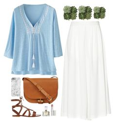 """""""Pretty Peasant Top"""" by terpsichoree ❤ liked on Polyvore"""
