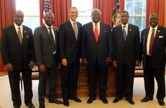 POTUS with the leaders of Liberia and Sierra Leone 4/15/15