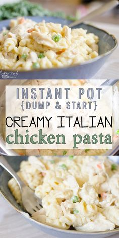 Instant Pot Creamy Italian Chicken Pasta is a Creamy Italian Chicken sauce made up of cream cheese, Italian dressing mix, and cream of chicken soup that covers pasta, chicken and some veggies. The best news is, all made at the same time in the same pot! Creamy Italian Chicken, Creamy Chicken Pasta, Crockpot Italian Chicken, Italian Dressing Chicken, Chicken Noodles, Cream Cheese Chicken, Chicken Soups, Ranch Dressing, Chicken Salad