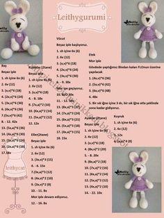 Mesmerizing Crochet an Amigurumi Rabbit Ideas. Lovely Crochet an Amigurumi Rabbit Ideas. Crochet Bear Patterns, Felt Crafts Patterns, Crochet Bunny Pattern, Crochet Rabbit, Crochet Motifs, Doll Patterns, Crochet Animals, Crochet Gratis, Crochet Teddy