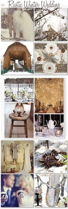 Inspiration for your Rustic Winter Wedding.  Pinned by Afloral.com from http://glitterinc.com/category/brown/