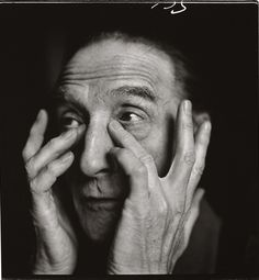 Marcel Duchamp (1887-1968) - French-American painter, sculptor, chess player, and writer whose work is associated with Dadaism and conceptual art, although not directly associated with Dada groups. Photo by Richard Avedon