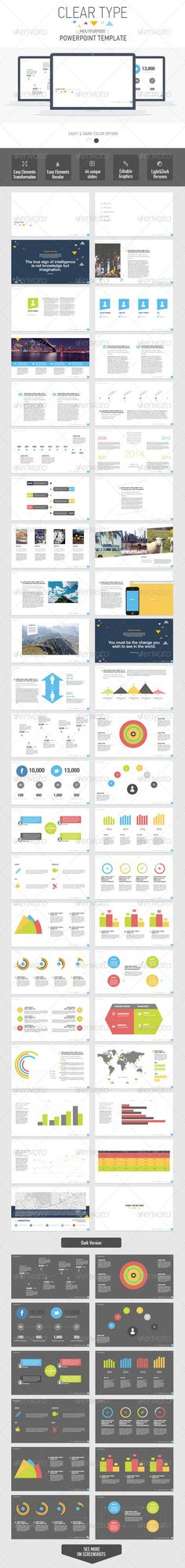 Clear Type Powerpoint Multipurpose Template