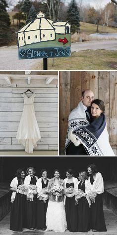 Glenna & Jon Real Vermont Wedding Inspiration   Winter Barn Wedding in Waitsfield Vermont   Winter/Spring 2017 Issue   Vermont Bride Magazine