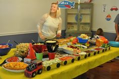 Planes, Trains, and Automobiles Birthday Party Ideas...cute idea with loaf pans...and like the bean bag toss game