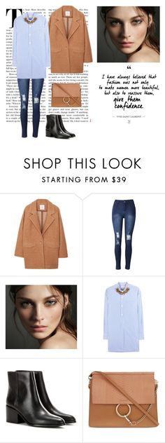 """3/11"" by dorey on Polyvore featuring MANGO, Burberry, Marni, Opening Ceremony and Chloé"