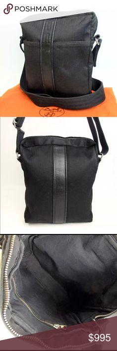 dc8d5ff0c202 Hermès messenger crossbody bag Authentic Hermès messenger crossbody bag  black Category Shoulder Bag Brand HERMES Size