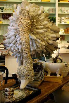 a paper ostrich