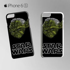 Star Wars Master Yoda Typograph for Iphone 4/4S Iphone 5/5S/5C/6/6S/6S Plus/6 Plus/7/7 Plus Phone case
