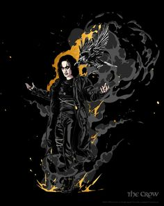 Crow Art, Brandon Lee, Crows Ravens, Skateboard Art, Comics, Gothic Art, Iphone Wallpapers, Darkness, Fictional Characters