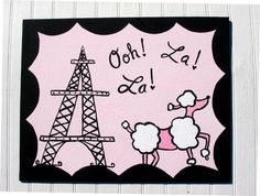 Paris Pink Poodle Kids Nursery Wall Art - Sophisticated French Chic. $40.00, via Etsy.
