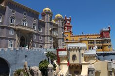 Pena Palace, Sintra, Portugal A colourful collection of different architectural styles, sitting high on the Sintra granite massif, with spectacular views