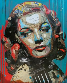"Artist : Arnaud Bauville ""LE COMBAT DE TROP"" 100 x 120 cm (39,4 inches x 47,2 inches )"
