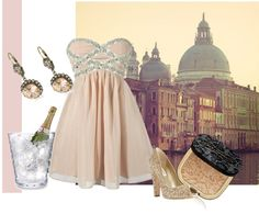 """""""Champagne Peach"""" by croxz on Polyvore"""