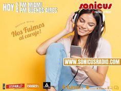 Ya llegamos!! en vivo!! Toda la música e información en un programa increíble!! www.sonicusradio.com #radio #online #music #musica #pop #hits #top  #followme #miami #latinos #hot #party #trendy #artistas #ranking #chart #show  #fashiongram #musicislife #ilovemusic #losangeles #newyork #celebrity  #dominicana #argentina  #tunein