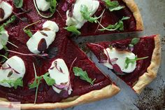 Beet and Goat Cheese Pizza. Maybe another way to use the garden beets