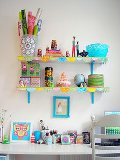 Workspace by PinkFriday, via Flickr  Oh the colors!