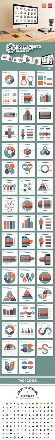50 Infographics Design Templates Vector EPS, AI Illustrator