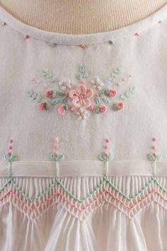 Enchanted Gardens by Debbie Glenn from issue 2 of the new magazine Classic Sewing available at smocking.com More