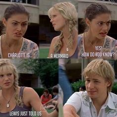 Charlotte is a mermaid - Cleo, Rikki and Lewis Tv Quotes, Movie Quotes, Mermaid Jokes, Moon Pool, H2o Mermaids, Mermaid Poster, Water Quotes, Indiana Evans, Japanese Poster Design