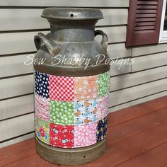 My antique milk can was all metal. I didn't want to paint it either. Big thank…